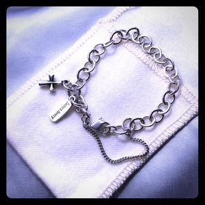 James Avery charm bracelet with cross charm
